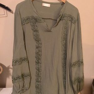 Altar'd State olive green top